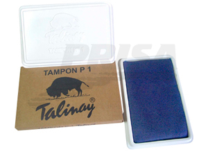 TAMPON TALINAY No.1 ROJO PLASTICO 8.5 X 15.0 CMS.