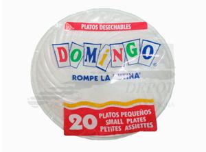 PLATO PLASTICO PEQUEÃ'O BLANCO X 20 UN.
