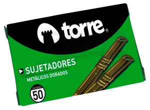 ACCOCLIPS FASTENER DORADO 50 UNID. TORRE