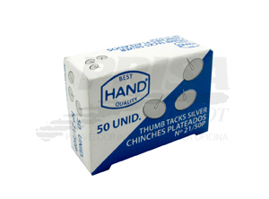 CHINCHES PLATEADOS X 50 UD HAND