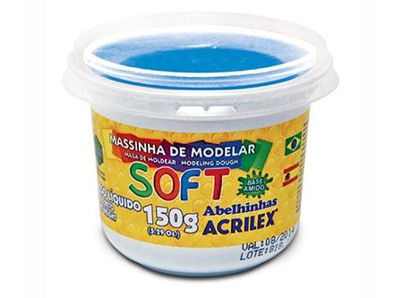 MASA P/MODELAR ACRILEX 150 GR. AZUL