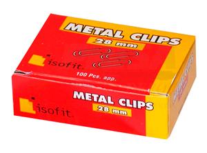 CLIPS METALICO 28MM ISOFIT PTA.REDONDA 100 UDS