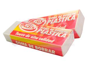 GOMA BORRAR ADIX PLASTICA 6X2.2X1.1
