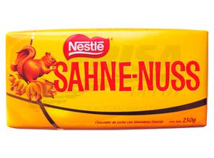 CHOCOLATE BARRA SAHNE NUSS 250 GR.