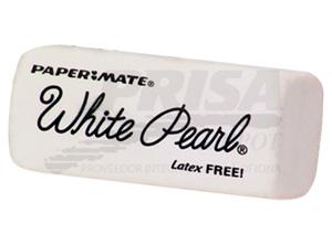 GOMA BORRAR MIGA PAPER MATE WHITE PEARL
