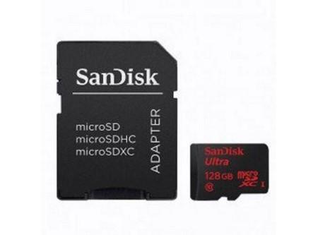 MEMORIA MICRO SDXC 128GB + ADAPT SANDISK CLASS 10