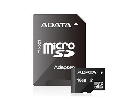 MEMORIA MICRO SD 16GB + ADAPT SD ADATA CLASE 4