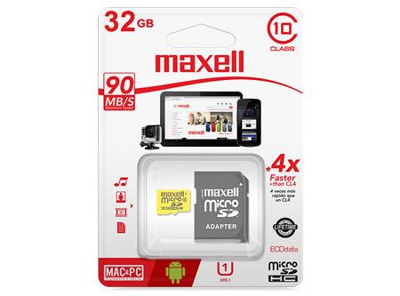 MEMORIA MICRO SDHC 32GB + ADAPT MAXELL CLASE 10