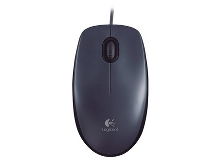 MOUSE LOGITECH USB 2BOT+SCROLL OPTICO NEGRO M-90
