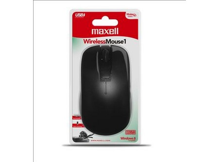 MOUSE MAXELL INALAMBRICO USB NG/GRIS PILA INCLUIDA