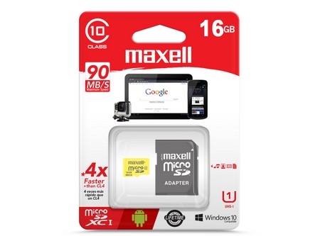 MEMORIA MICRO SDHC 16GB + ADAPT MAXELL CLASS 10