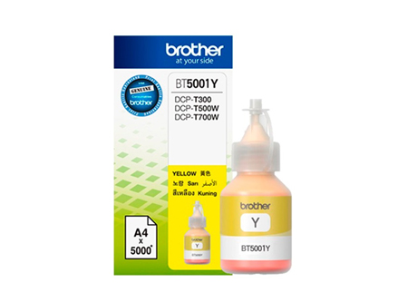 BOTELLA BROTHER BT5001-Y DCP-T300/T500/T700 5000PG