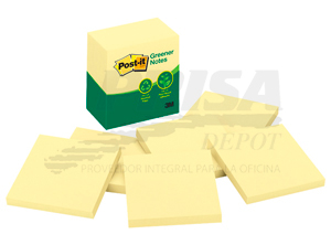 NOTA ADHESIVA 3M GREENER POST-IT 5416 CU.6 UN AM