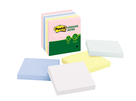 NOTA ADHESIVA 3M GREENER POST-IT 5416 X6 UN CUBO