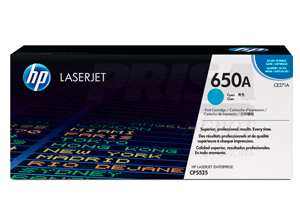 TONER HP CE271A (650A) 15.000PAG. CYAN P/CP5525
