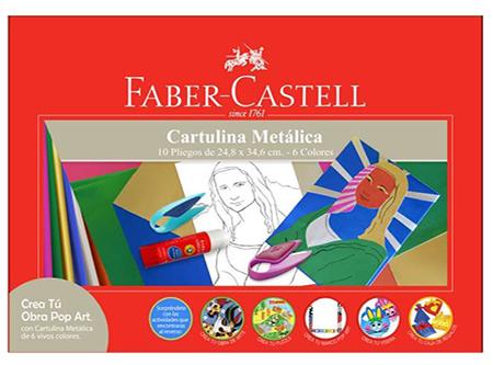 CARPETA ARTE FABER CARTULINA METALIZADA 10 PLIEGOS