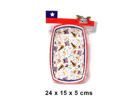 BANDEJA CHICA 18 CARTON VIVA CHILE X 10 UNID
