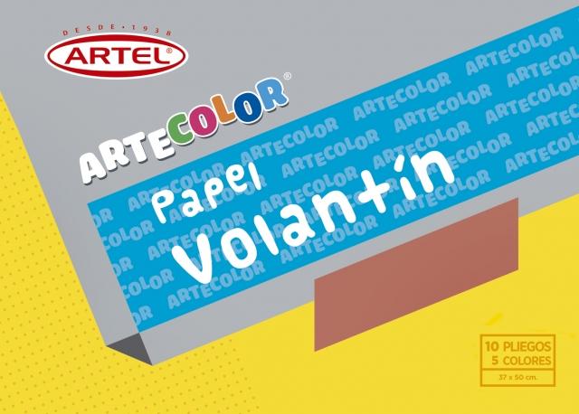 CARPETA ARTE COLOR PAPEL VOLANTIN 10 PLIEGOS ARTEL