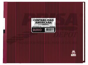 LIBRO CONTAB. AMERIC.12 CTAS.100 HJ. BUHO 167