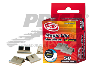 CLIPS MAGICOS 50 UN. ADIX METALICOS 4.8MM