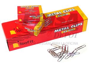 CLIPS METALICO 33MM ISOFIT PTA.REDONDA 100 UND.
