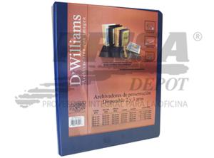 ARCHIVADOR A-4 C/PRES.2 AROS 1.0 AZ DWILLIAMS