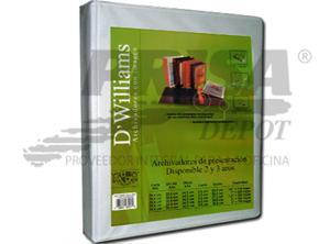ARCHIVADOR A-4 C/PRES.2 AROS 1.0 BL DWILLIAMS