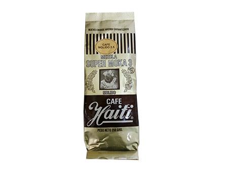 CAFE GRANO HAITI SUP/MOKA 2.5 MOLIDO 250GR.DORADO