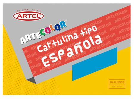 CARPETA ARTE COLOR ARTEL CARTULI.ESPAÃ'OLA 10 COL.