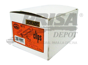 CLIPS METALICO 30MM 1 KILO PTA.RED.DORADA PEDIN