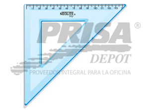 ESCUADRA PLASTICA 45o. 20CM NEOLITE TRANSPARENTE