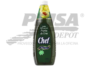 ACEITE COCINA 1 LT. PEPITA DE UVA CHEF