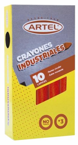CRAYONES INDUSTRIALES ARTEL 10UN.NEGRO