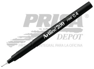 LAPIZ FIBRA 0.4 ARTLINE 200 NEGRO
