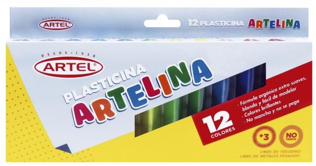 PLASTICINA 12 COLORES ARTELINA