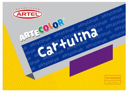 CARPETA ARTE COLOR ARTEL C/18CARTULINA.14 COLORES.