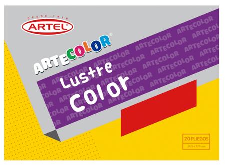 CARPETA ARTE COLOR ARTEL PAP/LUSTRE C/20
